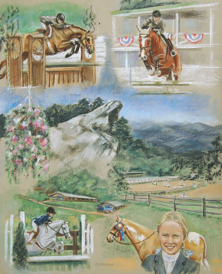 Horse Pastel Painting Blowing Rock Charity Horse Show